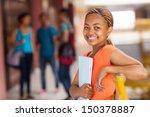 happy female african american... | Shutterstock . vector #150378887