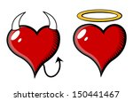 good and bad heart   vector... | Shutterstock .eps vector #150441467
