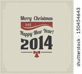vintage christmas card with... | Shutterstock .eps vector #150454643
