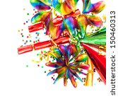 colorful garlands  streamer ... | Shutterstock . vector #150460313