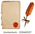 antique paper sheet and vintage ... | Shutterstock . vector #150460337