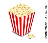 box with popcorn  vector... | Shutterstock .eps vector #150468407