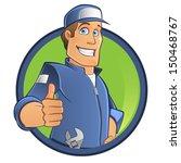 cartoon mechanic   Shutterstock .eps vector #150468767