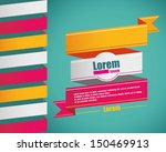 vintage style banner with text. ... | Shutterstock .eps vector #150469913