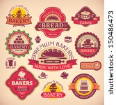 set 1 of vector vintage various ... | Shutterstock .eps vector #150486473