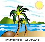 summer beach | Shutterstock .eps vector #15050146