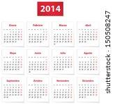 calendar for 2014 year on white ... | Shutterstock .eps vector #150508247