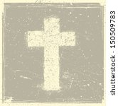 grunge cross  | Shutterstock .eps vector #150509783
