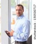 closeup of a young business man ... | Shutterstock . vector #150530717