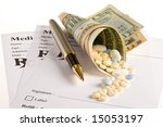 lots of medicine coming out of... | Shutterstock . vector #15053197
