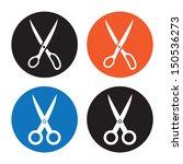 scissors. vector icon on white...   Shutterstock .eps vector #150536273