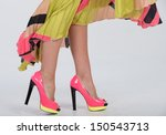 partial image of a woman's legs ... | Shutterstock . vector #150543713