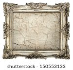 old silver frame with empty... | Shutterstock . vector #150553133