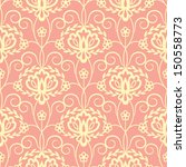 seamless floral pattern on red... | Shutterstock .eps vector #150558773