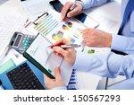 hand with calculator. finance...   Shutterstock . vector #150567293
