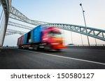 speeding truck go through the... | Shutterstock . vector #150580127