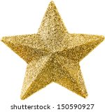 Golden Christmas Star Isolated...