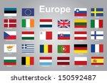 europe flags | Shutterstock .eps vector #150592487