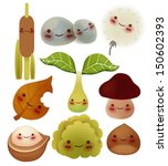 collection of cute forest item  ... | Shutterstock .eps vector #150602393