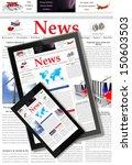 digital news concept    Shutterstock . vector #150603503