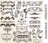 vector set of calligraphic... | Shutterstock .eps vector #150625373