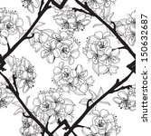elegant seamless pattern with... | Shutterstock .eps vector #150632687