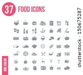 37 food icons set | Shutterstock .eps vector #150675287