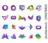 abstract icons set   isolated... | Shutterstock .eps vector #150678803