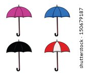 set of colorful umbrellas | Shutterstock . vector #150679187