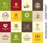 Set of icons for food and drink, restaurants and organic products | Shutterstock vector #150679367