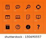 help and faq icons on orange...