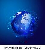 global technology mesh network  ... | Shutterstock .eps vector #150690683
