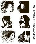 girl hair | Shutterstock .eps vector #150691157
