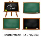 set of school board blackboards.... | Shutterstock .eps vector #150702353