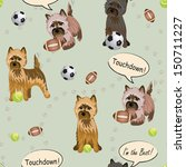 Vector Cairn terrier dog pattern seamless sport