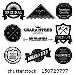 set of vintage premium quality... | Shutterstock . vector #150729797