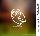 stylized owl. vector background | Shutterstock .eps vector #150741467