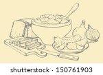 vector kitchen still life.... | Shutterstock .eps vector #150761903