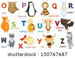 animals abc  letter o z.... | Shutterstock . vector #150767687