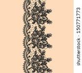 vertical seamless pattern black ... | Shutterstock .eps vector #150771773