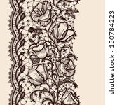 lace ribbon vertical seamless...   Shutterstock .eps vector #150784223