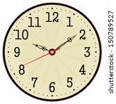vector old vintage clock face  | Shutterstock .eps vector #150789527