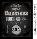chalkboard business lunch... | Shutterstock .eps vector #150816917