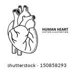 human heart design over white... | Shutterstock .eps vector #150858293