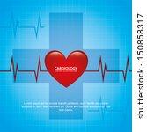 cardiology design over blue... | Shutterstock .eps vector #150858317