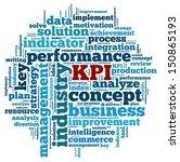 key performance indicators in... | Shutterstock . vector #150865193