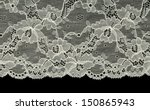 Bright Openwork Lace Isolated...