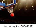 Basketball Basket With All...