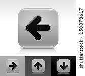 arrow icon set gray glossy web...
