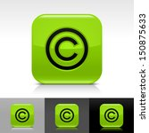copyright icon green color...